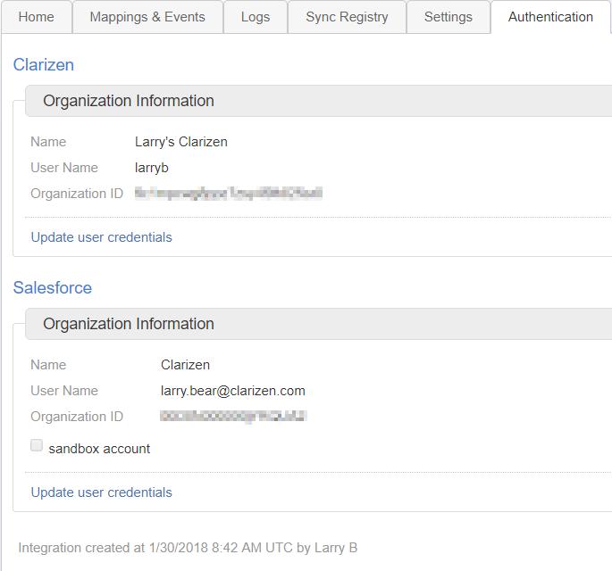 Salesforce Integration – Clarizen Success