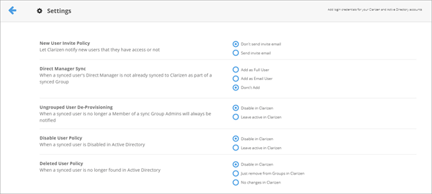 User Provisioning with Active Directory – Clarizen Success