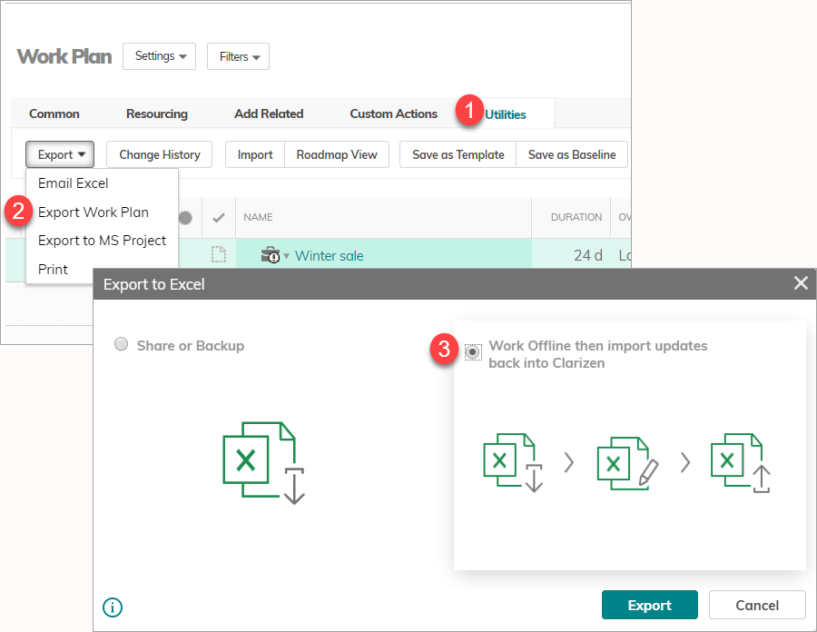 Importing and Updating Data Using MS Excel – Clarizen Success