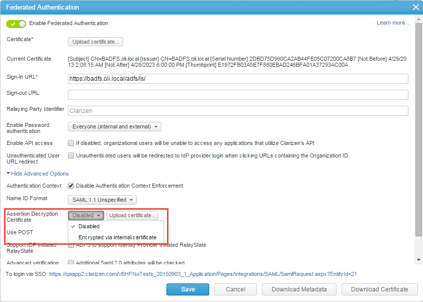Authentication With Identity Providers (SSO) – Clarizen Success