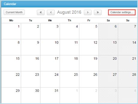 Configuring a Fiscal Calendar – Clarizen Success